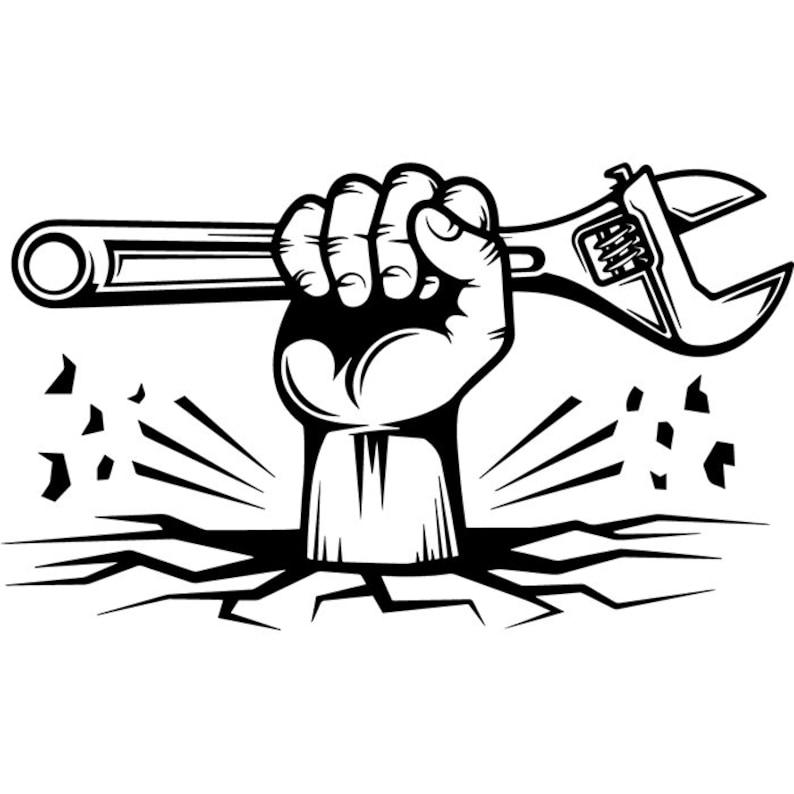 Construction Logo 63 Mechanic Plumbing Hand Wrench Toolbox  070ed1e173f7