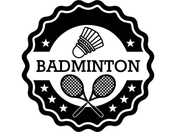 Badminton Logo 4 Birdie Racket Court Sports Competition | Etsy