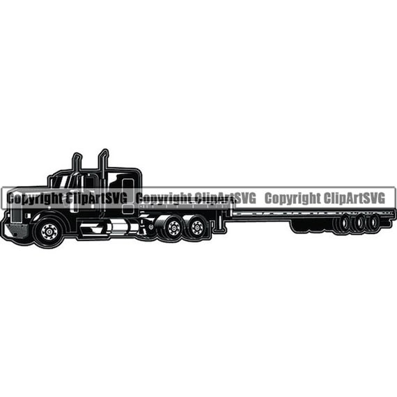 Truck Driver 58 Flatbed Trucker Big Rigg Semi Tractor Trailer Etsy