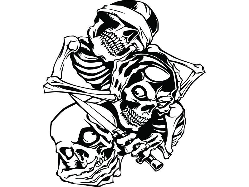 Skull 50 Hear Speak See No Evil Kill Killer Tattoo Human