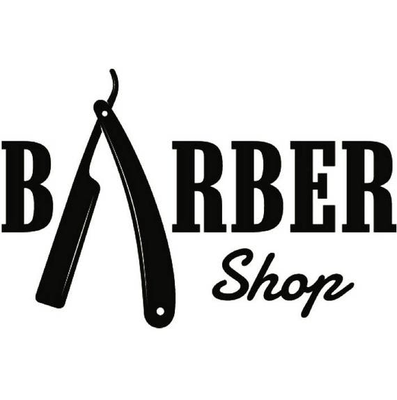 Barber Logo 21 Salon Shop Haircut Hair Cut Groom Grooming Etsy