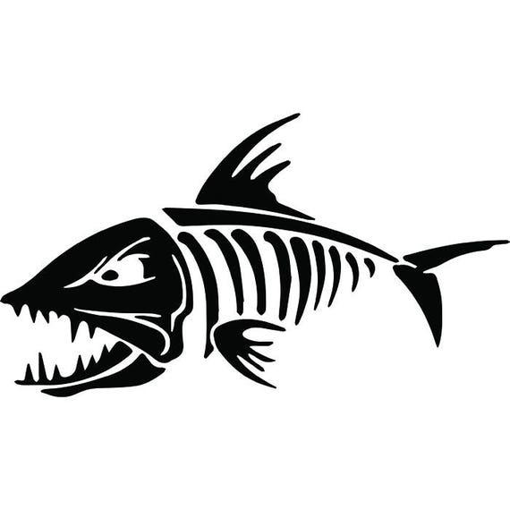 bone fish 1 logo skeleton angling fishing hook fresh water etsy rh etsy com red fish skeleton logo Mean Fish Skeleton Clip Art