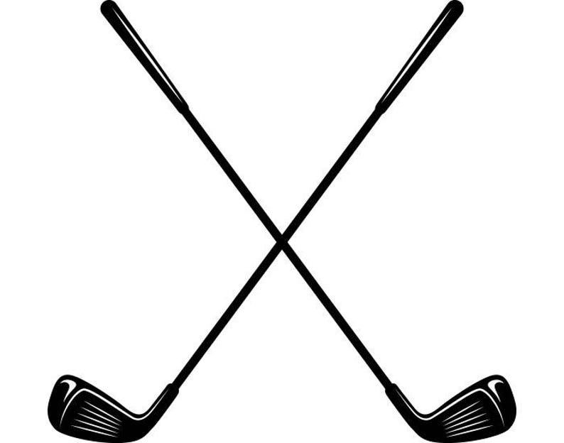 Golf Logo 5 Clubs Iron Wood Golfer Golfing Sports Course Cart  8504e8b503fd