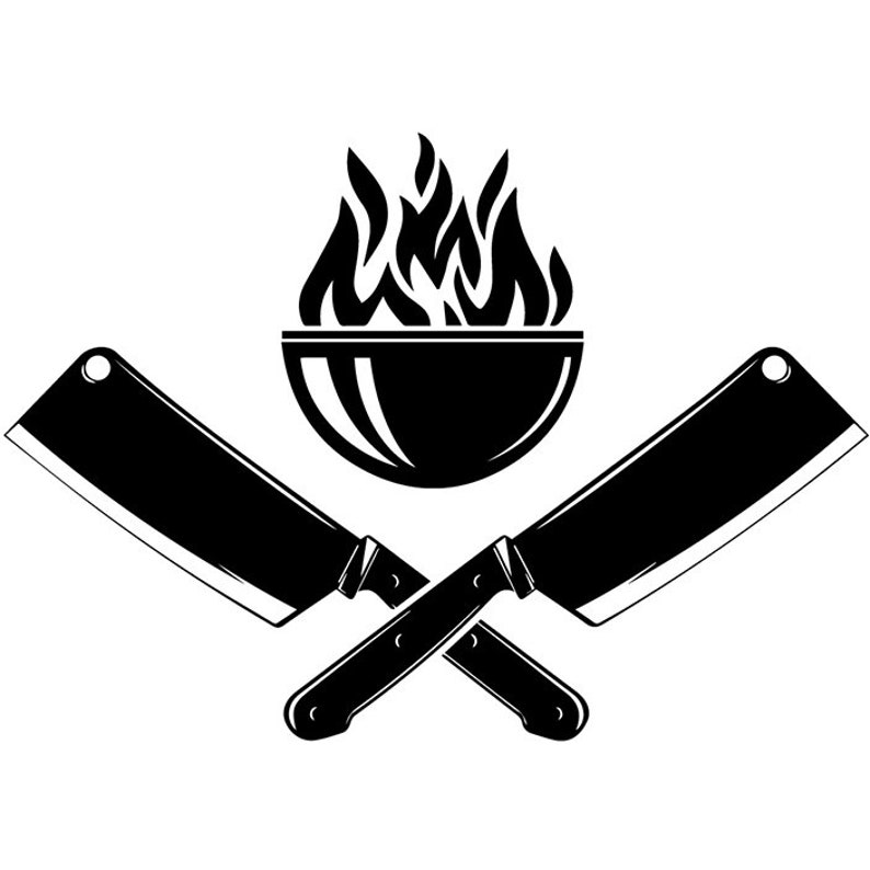 Chef Logo 21 Butcher Grill Grilling Meat Clever Steak