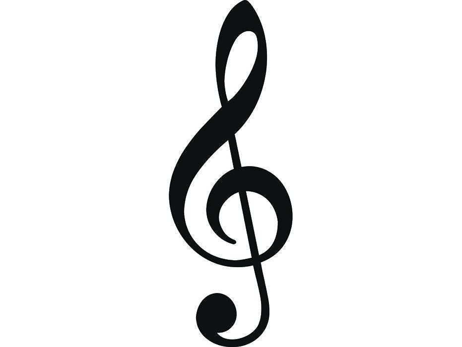 Sheet Music 3 Musical Note Musician Melody Symbol Treble Clef Etsy