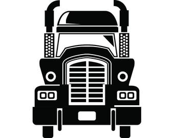 Truck Driver #22 Trucker Big Rigg 18 Wheeler Semi Tractor Trailer Cab Flat Bed Company Trucking Logo.SVG .EPS .PNG Vector Cricut Cut Cutting