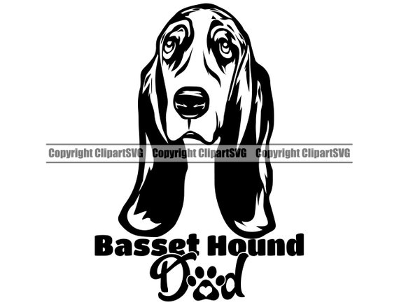 Basset Hound Dog Dad Father Breed Love Puppy Paw Pup Pet Etsy