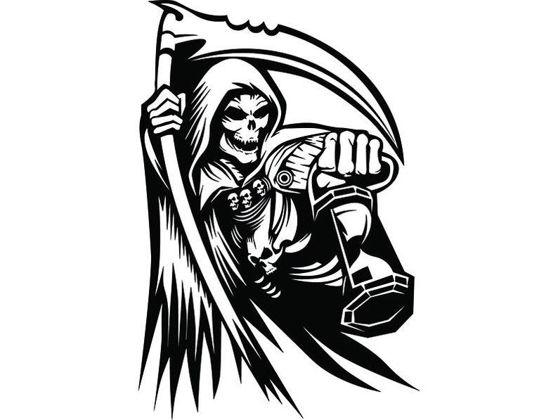 Grim Reaper 16 Skull Death Sickle Evil Kill Killer Grim Etsy