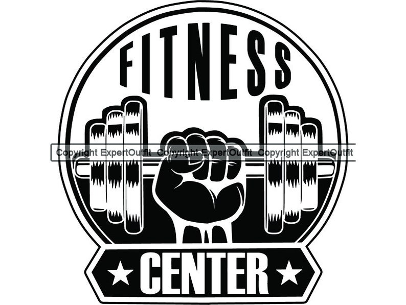 Fitness Logo Skull Dumbbell Bar Weightlifting Bodybuilding Workout Working  Out Gym Weight Barbell SVG  PNG Clipart Vector Cricut Cut Cutting