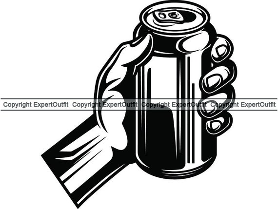 Beer Can 8 Hand Holding Hold Bar Pub Aluminum Six Pack Drink Etsy