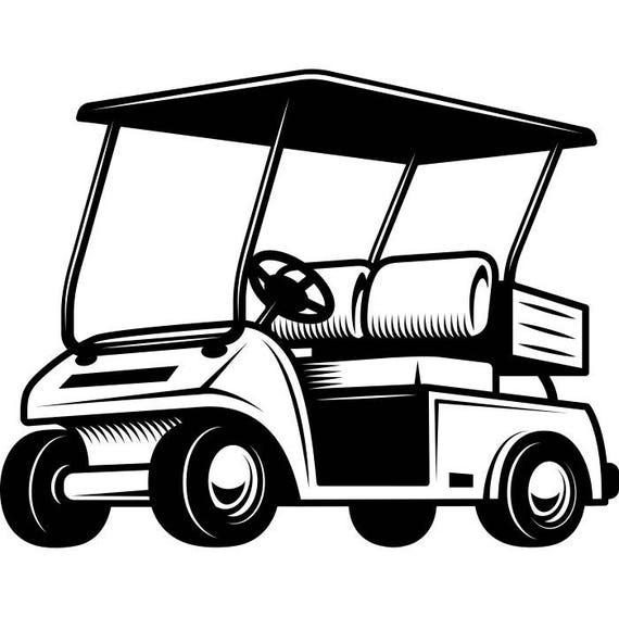golf cart 1 golfer golfing clubs sports course cart car ball etsy rh etsy com golf cart clip art cartoons golf cart clip art free images