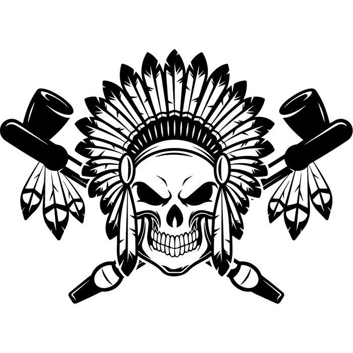 Indian Logo 11 Native American Warrior Heritage Wild West