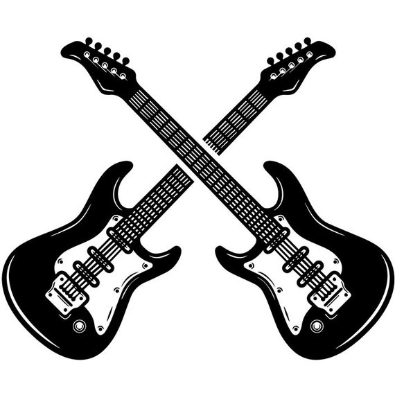 Guitar Logo 13 Pick Electric Electrical Musical Instrument Etsy