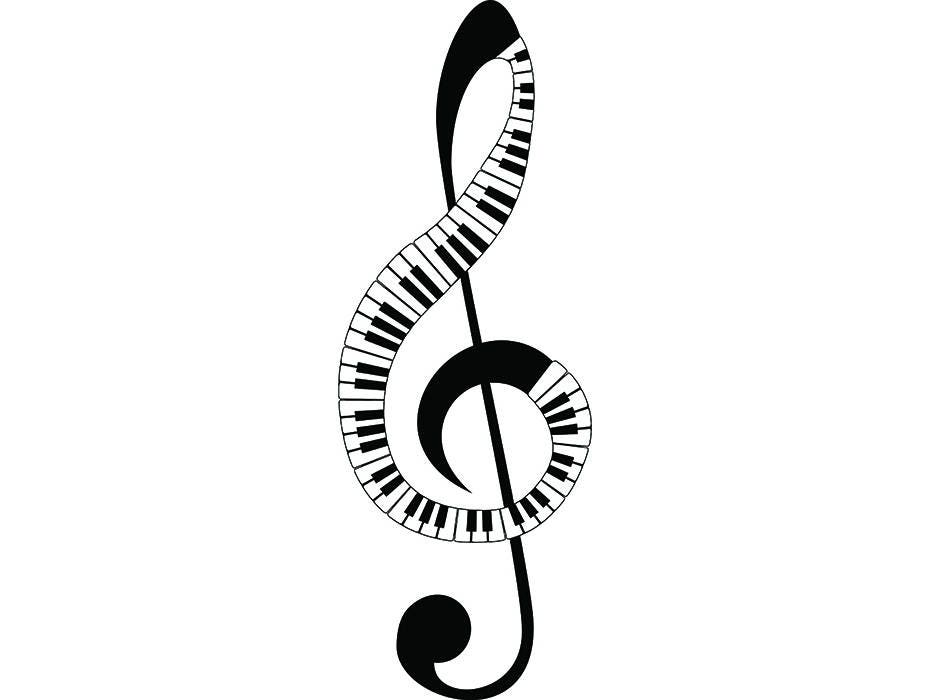 Sheet Music 4 Musical Note Symbol Treble Clef Classical Sound Etsy