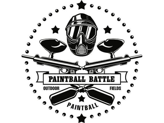 paintball logo 5 gun mask war battle paint ball sports game etsy rh etsy com paintball lego paintball london