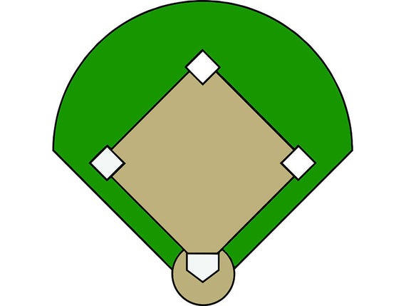 Baseball Field 4 Stadium Ball Bark Diamond League Team Lineup