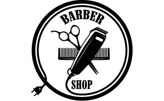 Barber Logo 6 Salon Shop Haircut Hair Cut Groom Grooming Etsy
