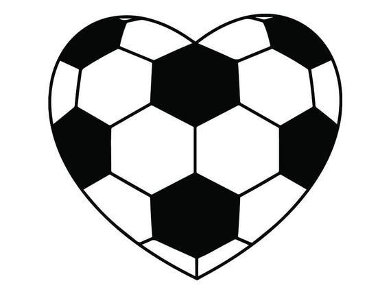 Soccer Ball 5 Heart Shaped Love Futball Field Team Sport