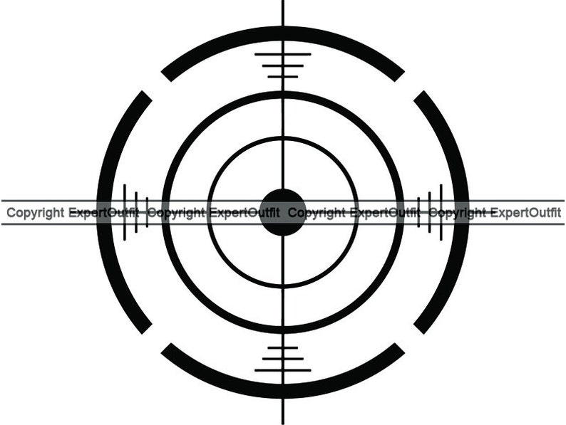 image regarding Printable Sniper Targets identify Taking pictures Gun Scope Aim Focusing on Aiming Emphasis Sniper Snipe Sniped Snipping Shoot Shooter Gunner .SVG .PNG Clipart Vector Cricut Slice Chopping