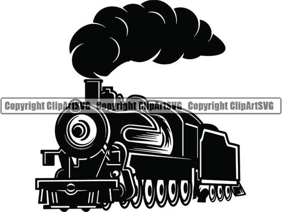 Steam Engine 26 Train Locomotive Smoke Vintage Railroad Etsy