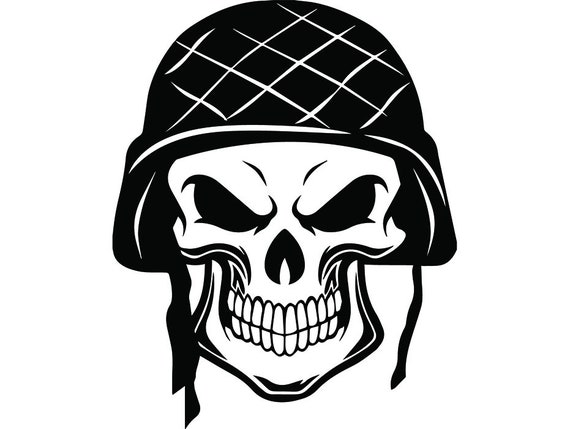 Military Skull 11 Skeleton Bullet Army Helmet Machine Gun ...