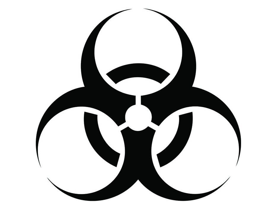 Biohazard Symbol 1 Bio Hazard Biological Dangerous Toxic Etsy