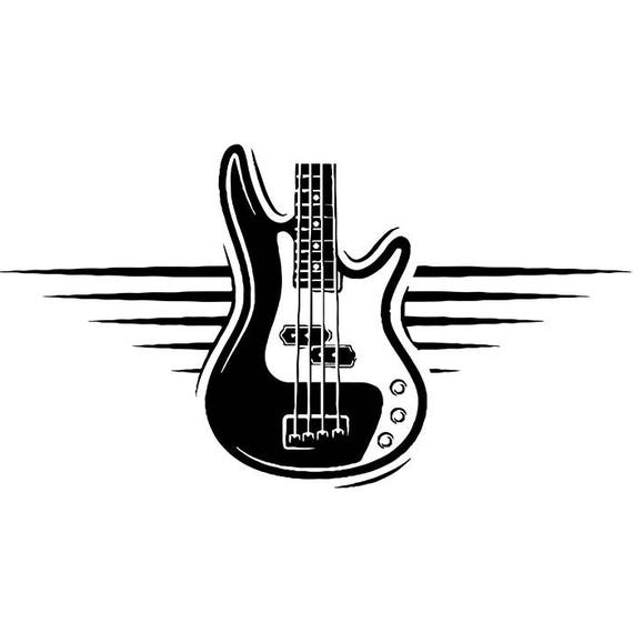 guitar logo 4 electric electrical banner head strings musical etsy. Black Bedroom Furniture Sets. Home Design Ideas