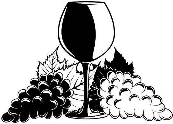 Wine Logo 3 Winery Wineglass Glass Grape Vine Drink Drinking