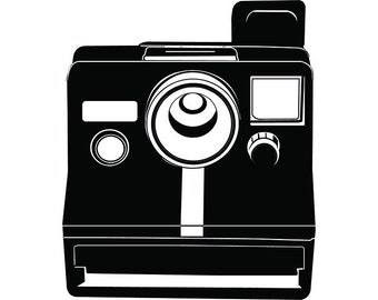 Camera #14 Instant Polaroid Photography Photographer Digital Lens Photo Equipment Art Vintage Retro .SVG .EPS .PNG Vector Cricut Cut Cutting