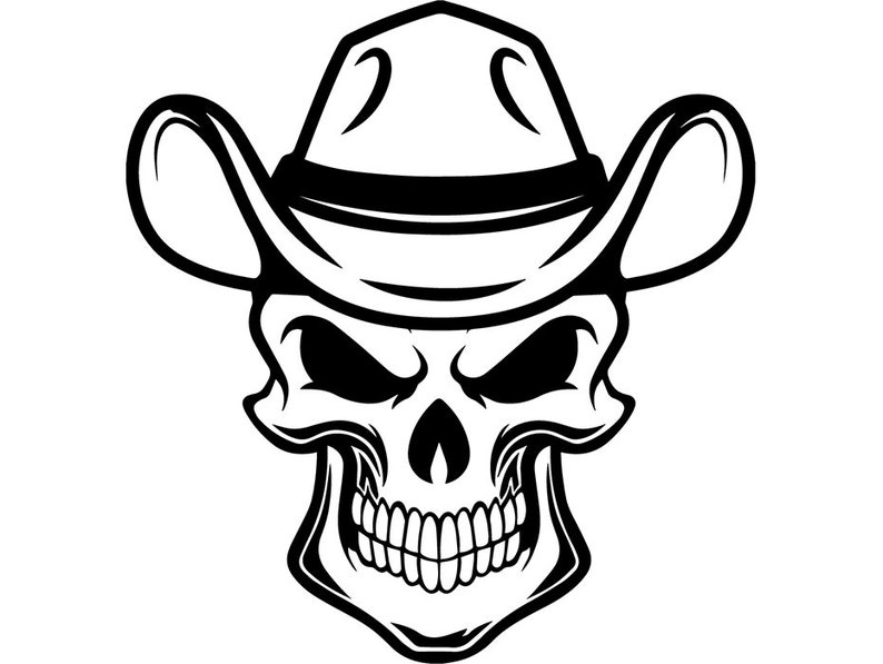 342d1369a152d Cowboy Skull 10 Skull Grin Scarf Hat Country Western Rodeo