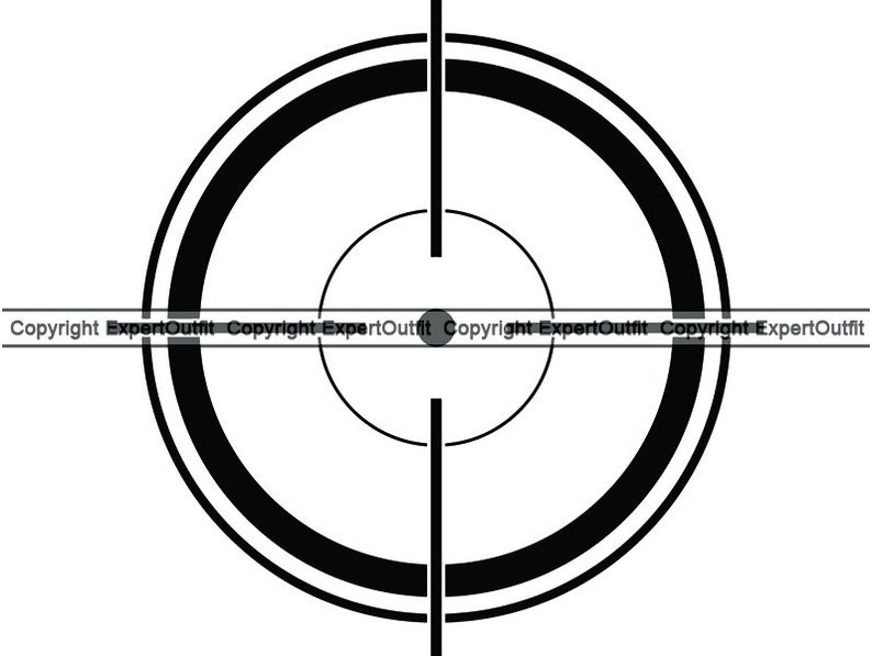 photo relating to Printable Sniper Targets named Video game Capturing Scope Crosshair Concentration Focusing on Sniper Strike Shoot Get rid of Killer War Military services Vertern .SVG .PNG Clipart Vector Cricut Lower Chopping