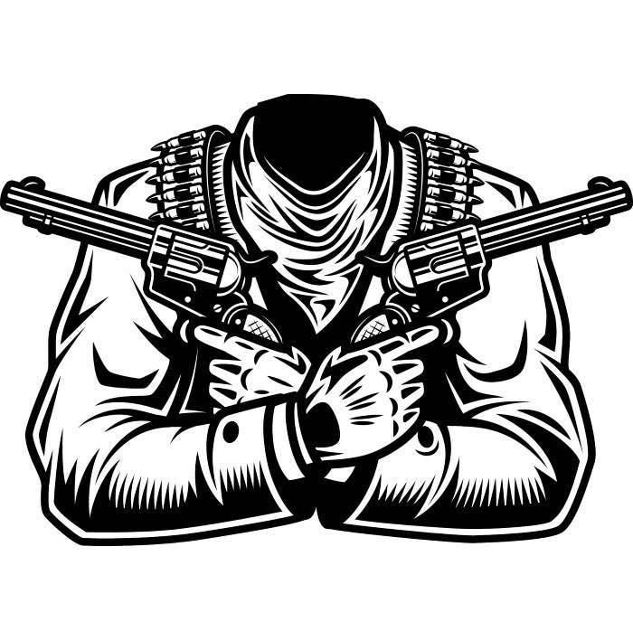 Outlaw America Outlaw Youth Guns Love And Respect: Cowboy Body 1 Guns Outlaw Bullets Scarf Country Western