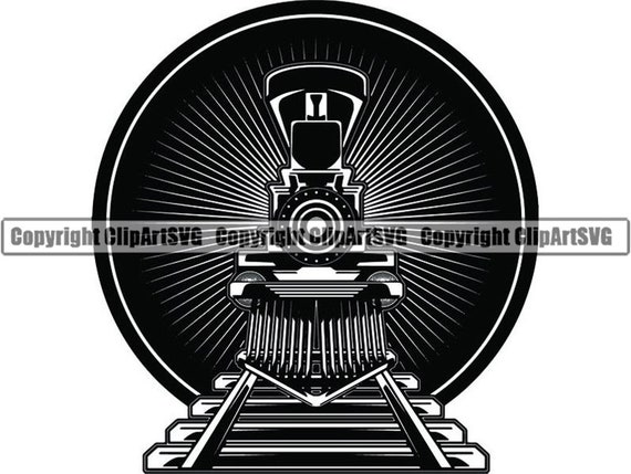 Steam Engine 38 Train Locomotive Smoke Vintage Railroad Etsy