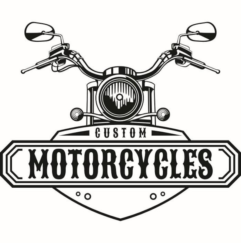 Motorcycle Logo 1 Handle Bars Light Custom Bike Biker Etsy