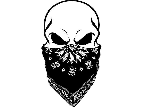 Gangster Skull 2 Gun Shoot Thug Fight Kill Bandanna Mask