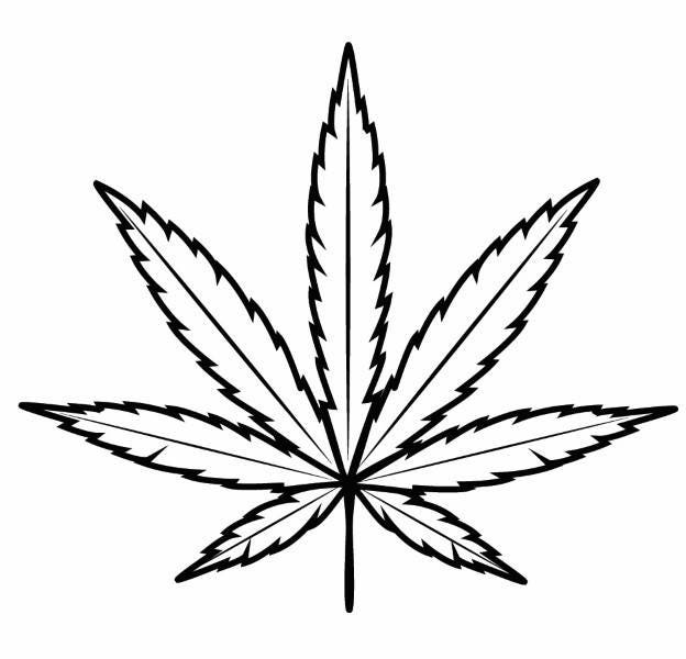 It is a graphic of Epic Cannabis Leaf Drawing