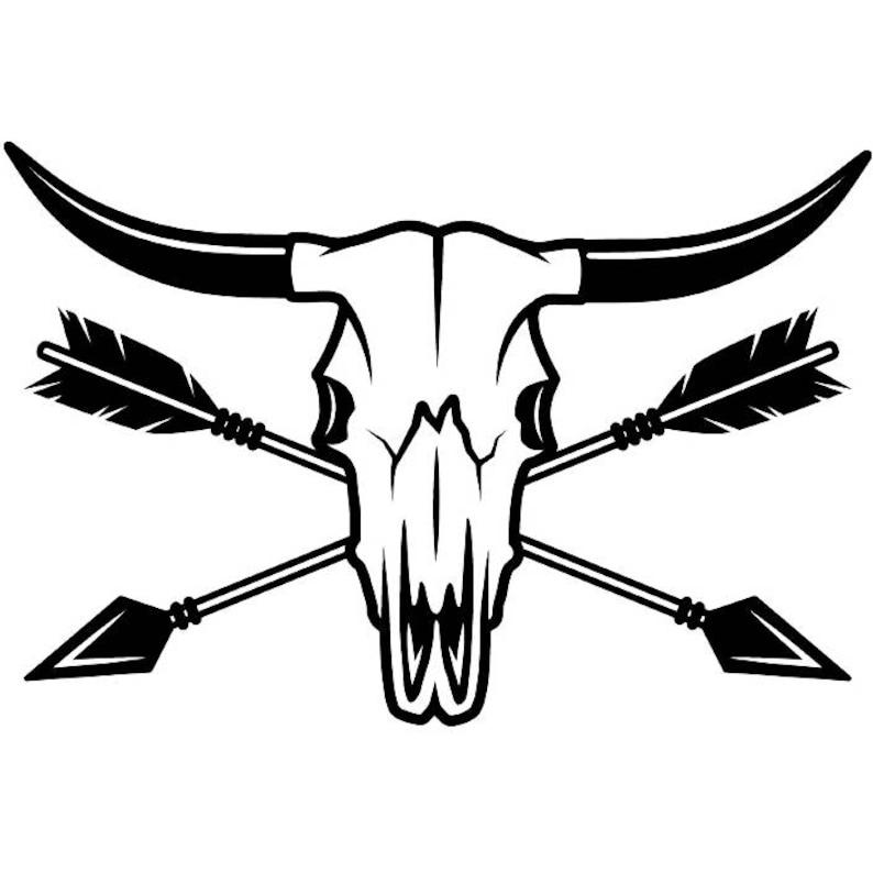 wholesale dealer 16b4d c82a0 Cowboy Logo 22 Bull Horn Wrangler Arrows Country Western   Etsy