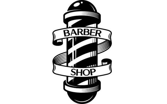 Barber Logo 6 Pole Salon Haircut Hair Cut Hairstyle Etsy