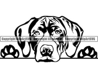 German Shorthaired Pointer #2 Peeking Dog Breed K-9 Pet Animal Hunting Canine Hound Pedigree Logo.SVG .PNG Clipart Vector Cricut Cut Cutting