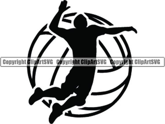 Volleyball Logo 6 Male Mens Boys Ball Player Sport Team Sport Etsy