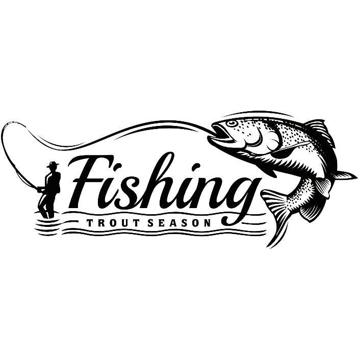 Fliegenfischen Logo 8 Angeln Fisch Süßwasser Jagd gestreift | Etsy
