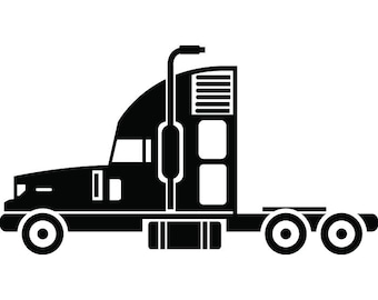 Truck Driver #23 Trucker Big Rigg 18 Wheeler Semi Tractor Trailer Cab Flat Bed Company Trucking Logo.SVG .EPS .PNG Vector Cricut Cut Cutting