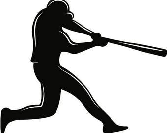Baseball Player #1 Athlete Stadium Diamond League Equipment Team Game Sports Company Logo .SVG .EPS .PNG Clipart Vector Cricut Cut Cutting