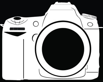 Camera #13 Photography Photographer Digital Lens Photo Film Equipment Studio Shoot Art .SVG .EPS .PNG Clipart Vector Cricut Cut Cutting File