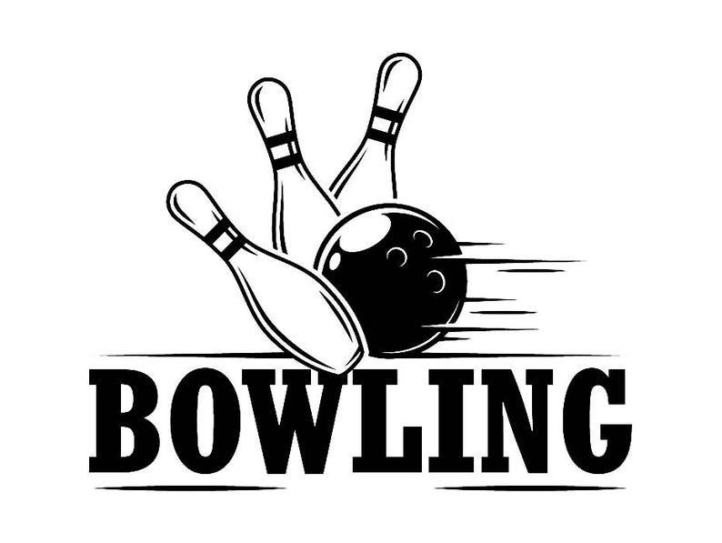 Bowling Logo 7 Ball Pin Sport Schale Spiel Bowler Gasse Etsy