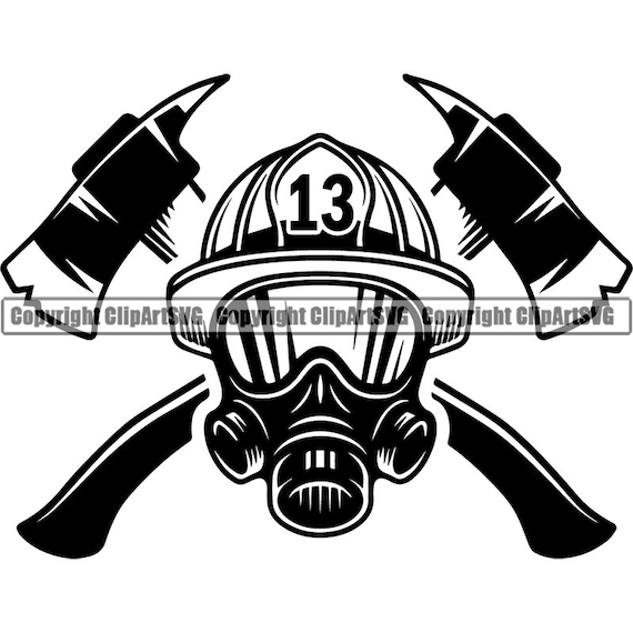 Firefighter Logo 23 Firefighting Rescue Axes Fireman Fighting Etsy