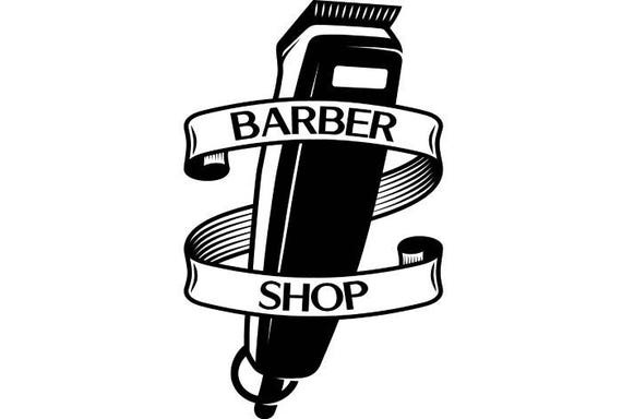 Barber Logo 3 Salon Shop Haircut Hair Cut Groom Grooming Etsy
