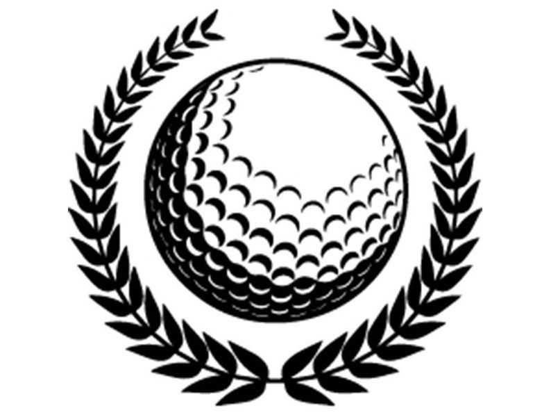 Golf Ball 7 Laurel Wreath Golfer Golfing Sports Competition