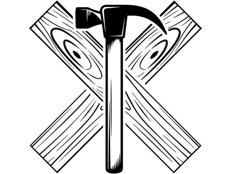 Woodworking Logo 21 Hammer Tool Wood Craftsman Carpenter