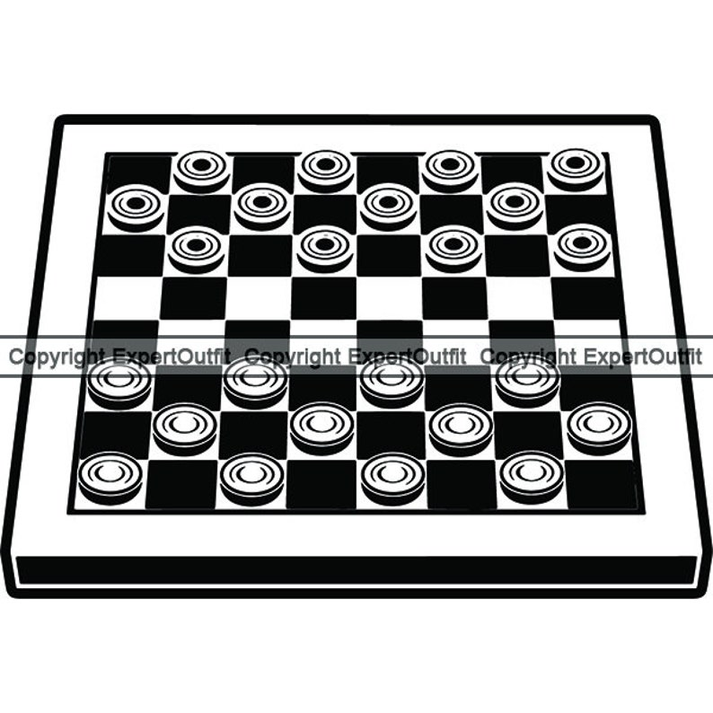 graphic about Printable Checkers Board called Checkers #6 Board Elements Set up Checkerboard Video game Compeion Match Activity King Movement Symbol .SVG .PNG Clipart Vector Cricut Minimize Slicing